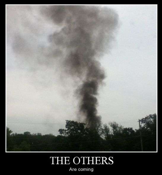 """""""My neighbor decided to burn some trash.... I was truly terrified for a second..."""" - Lost TV show reference"""
