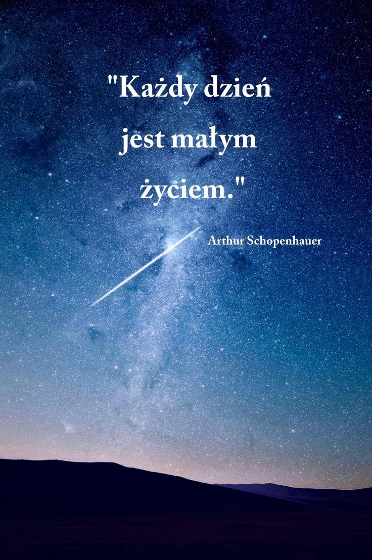 Każdy dzień jest małym życiem.  #cytat #życie #niebo #gwiazdy #noc #gwiazdy #stars #sky #night