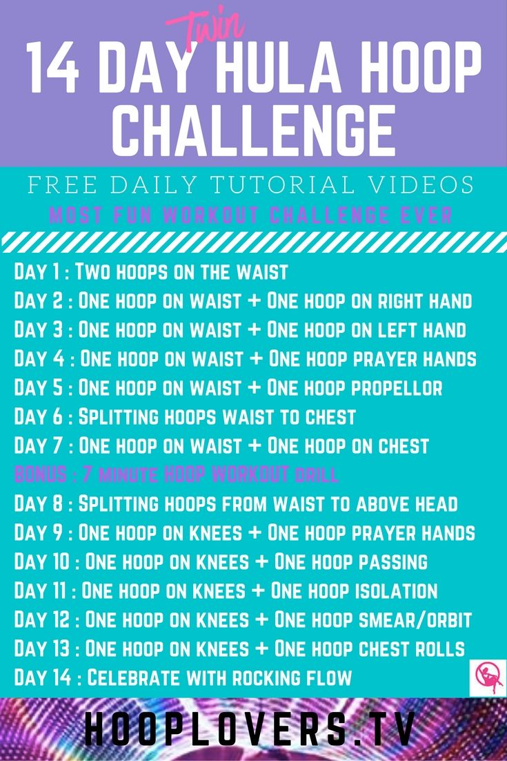 Join the 14 day twin hula hoop challenge! It's free, fun and fabulous for your core! http://learn.hooplovers.tv/courses/14-day-twin-hoop-drill