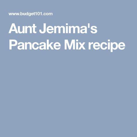 Aunt Jemima's Pancake Mix recipe
