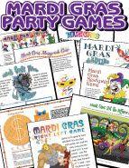 Printable Mardi Gras Games Pack