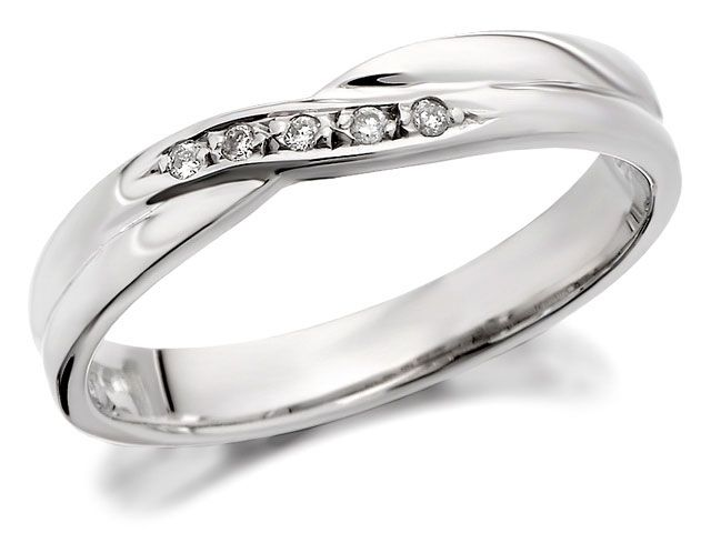 fhinds wedding rings wedding rings ladies wedding rings 9ct white - Ladies Wedding Rings