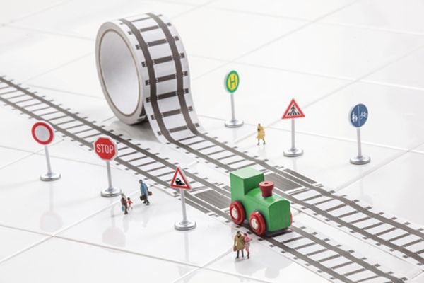 Have train track or road tape, will travel