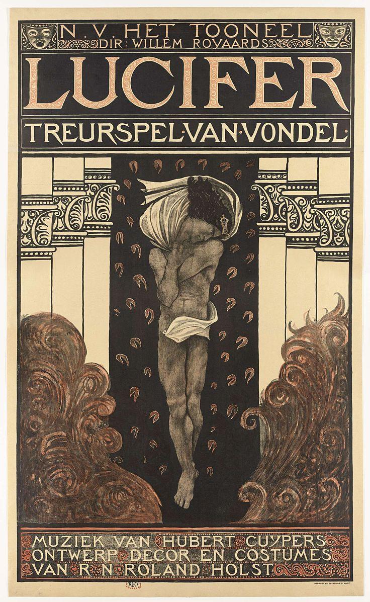 N.V. Het Toneel. Dir. Willem Royaards. Lucifer treurspel van Vondel. Muziek van Hubert Cuyper. Ontwerp, decor, costuums van R.N. Roland Holst., Richard Roland Holst, 1910