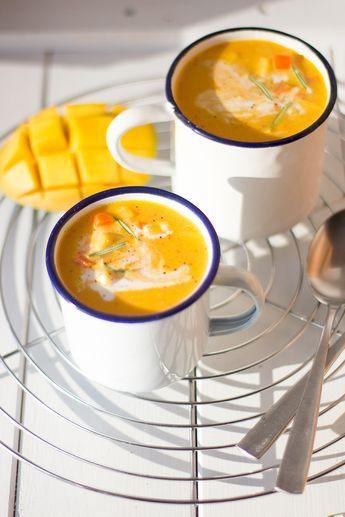 Sopa de cenoura com manga e leite de coco   – Foodlove