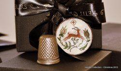 Redware Pottery Reindeer Plate by Elmarie Wood-Callander