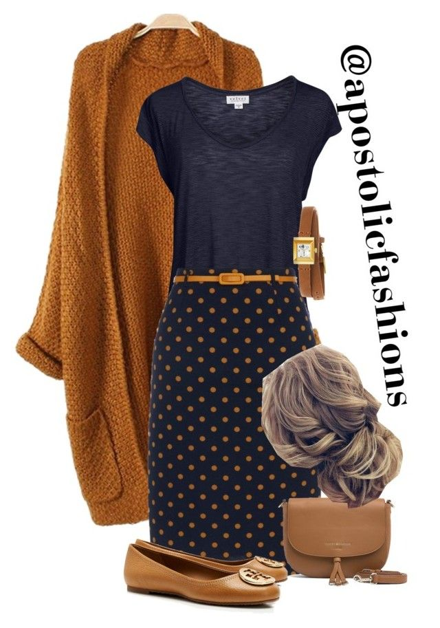 """Apostolic Fashions #1842"" by apostolicfashions on Polyvore featuring Velvet by Graham & Spencer, Yumi, Tory Burch, Gucci and Tommy Hilfiger"