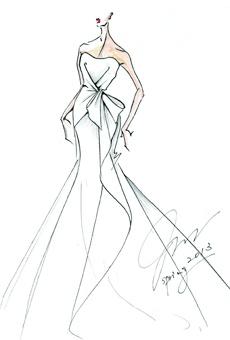 Brides: Runway Sneak Peek: Spring 2013 Sketches | Wedding Dresses | Brides.com. Junko Yoshioka