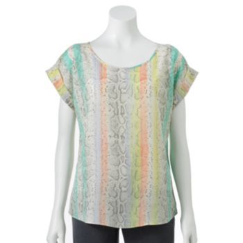 apt 9 snakeskin crepe top clothing pinterest crepes and