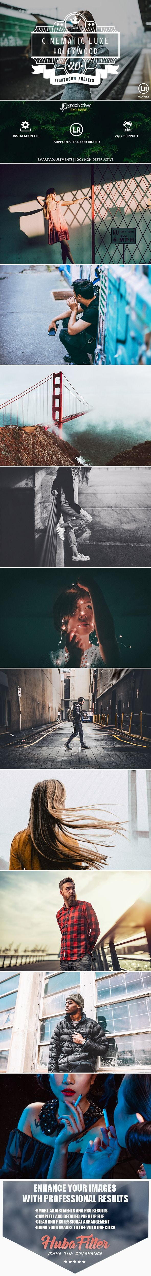 20 Cinematic Luxe Hollywood Lightroom Presets — LRTemplate #lightroom #effect • Download ➝ https://graphicriver.net/item/20-cinematic-luxe-hollywood-lightroom-presets/19633553?ref=pxcr