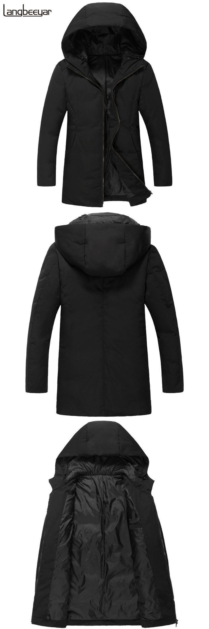 New Fashion Brand Clothing Mens Duck Down Jackets Mens Top Grade Winter Jacket Men Parka Trend Hooded Men Winter Coat Men