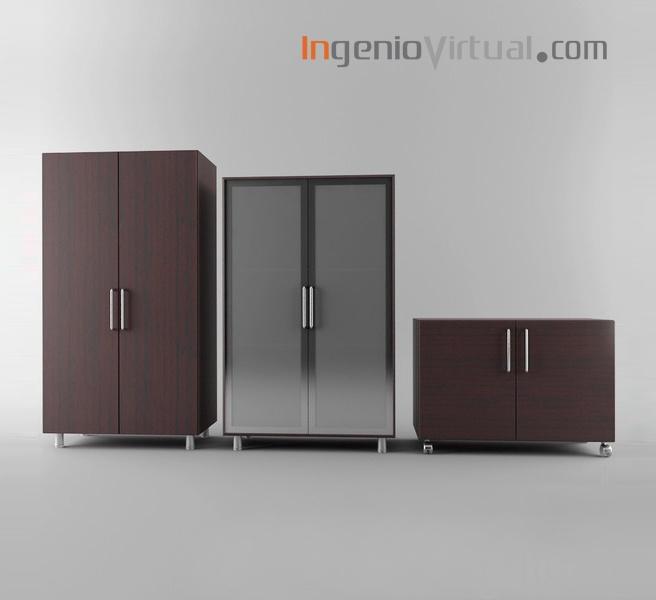 ingeniovirtual.com - Infografía de mobiliario para oficina de marca comercial.