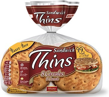 Sándwich Thins 8 Cereales