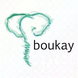 Boukay aquarel logo