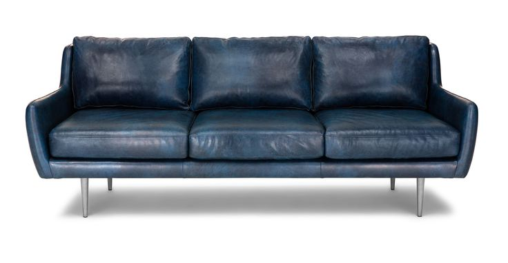 Matrix Oxford Blue Sofa