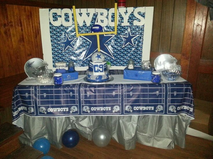 Dallas Cowboys Party Candy Cake Table Lets Plan A Party