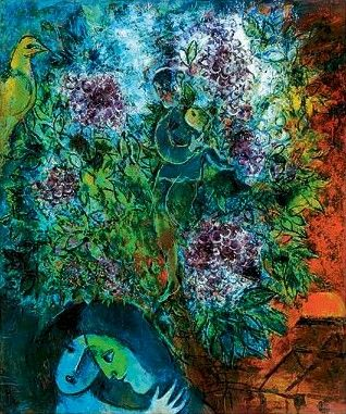 Growing up attending ballet and opera at Lincoln Center, Chagall's paintings (and his murals displayed beautifully at The Met) always touched me.  He was extraordinary in subject and brushstroke.  Amazing. Chagall