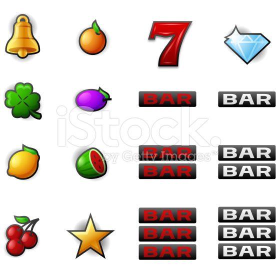 Gambling Slot Machine Symbols royalty-free stock vector art