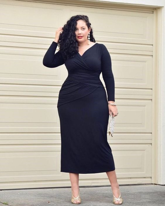 25 Plus Size Wedding Guest Outfits To Steal | Plus size black dresses, Plus size wedding guest outfits, Urban plus size clothing