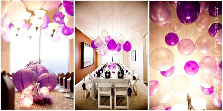 Purple party decor