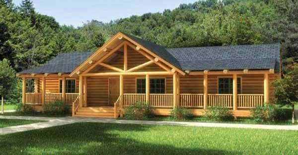 Ranch Style Log Home Kits In 2020 Log Home Floor Plans Log Home Plans Log Cabin Homes