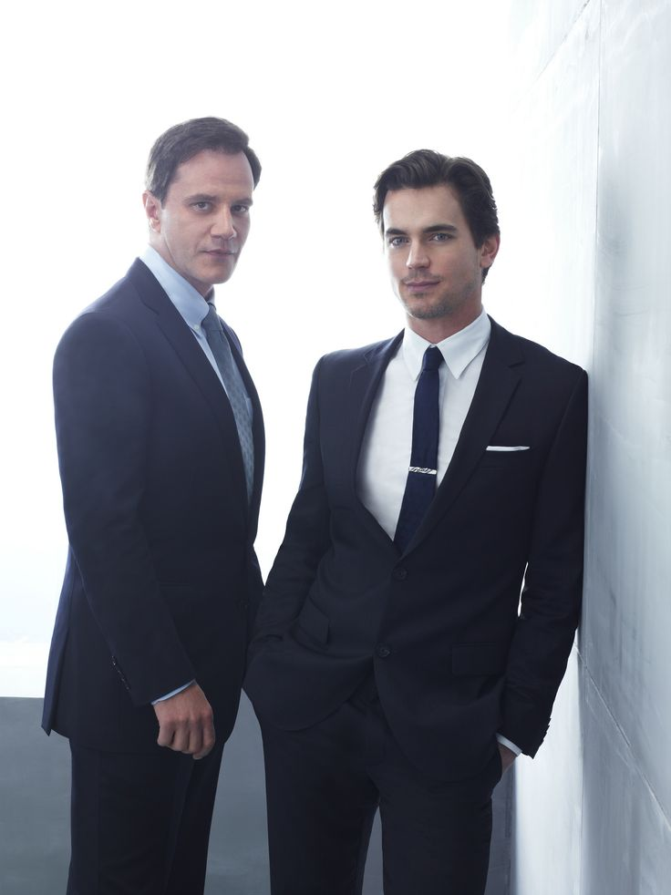 "Matt Bomer as Neil Caffrey and Tim DeKay as Peter Burke from USA's ""White Collar"" Tie clip"