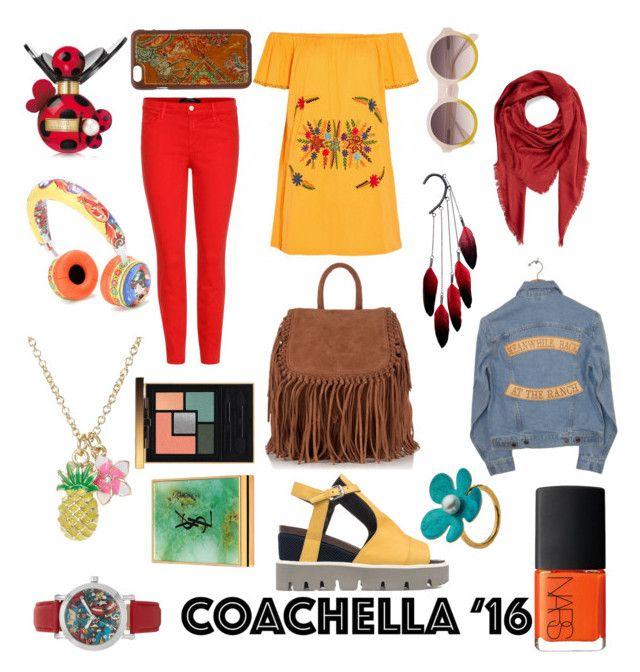 """Coachella '16"" by raffaellapapami on Polyvore featuring J Brand, Strategia, Superdry, Blazin Roxx, Marc Jacobs, Anni Jürgenson, Marvel, NARS Cosmetics, Yves Saint Laurent and Understated Leather"