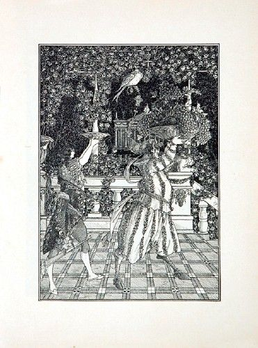 Aubrey Beardsley (1872-1898). The Fruit Bearers  240 x 180 mm  An original magazine illustration from 'Under the Hill', designed by Aubrey Beardsley, January 1896.  An original magazine illustration from 'Under the Hill', designed by Aubr...
