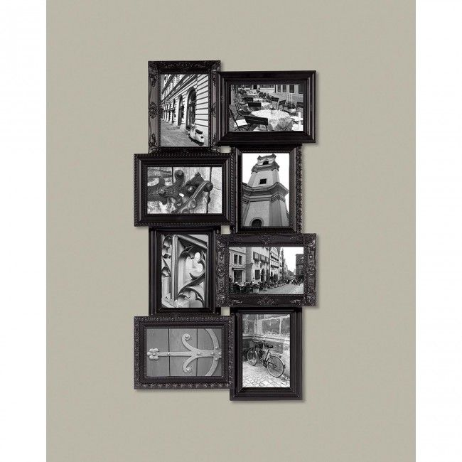 This distinctive dual level collage frame with varying ornate profiles creates a remarkable look for any room.