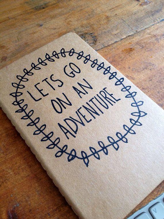 Lets Go On An Adventure Moleskine Plain Notebook