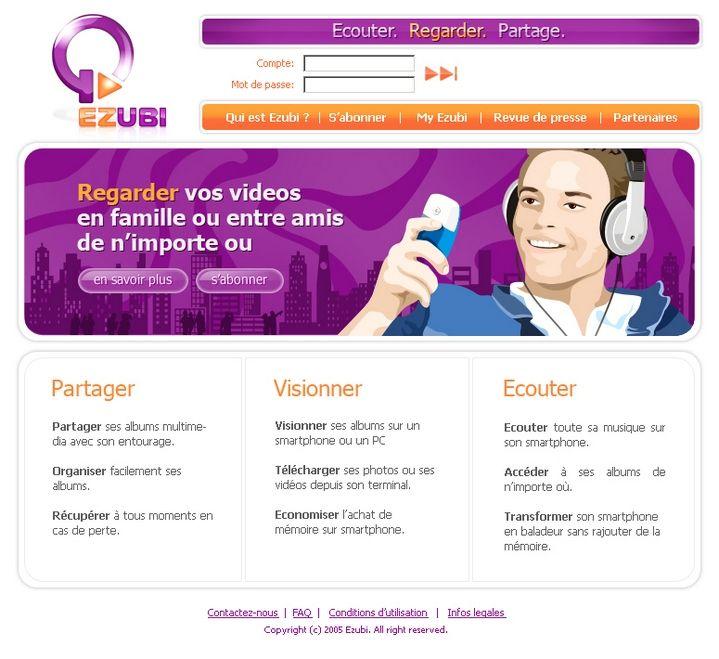 Клиент: Ezubi Описание: Логотип для интернет-сервиса по обмену и хранению информации. Работа по субконтракту.