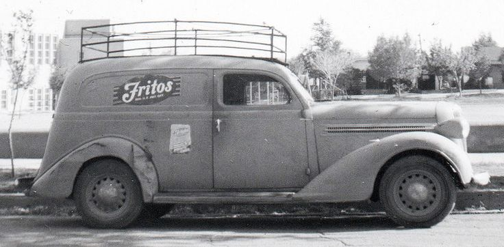 Vintage Photo Snapshot 1935-36 DODGE Sedan Delivery FRITOS Truck VG+/Ex Sharp!