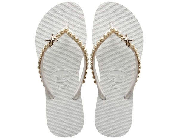 Havaianas Bridal Collection: Fancy Flip Flops for beach.
