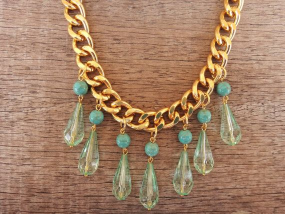 Turquoise Howlite Gemstones Transparent Turquoise by Twininas, €24.00