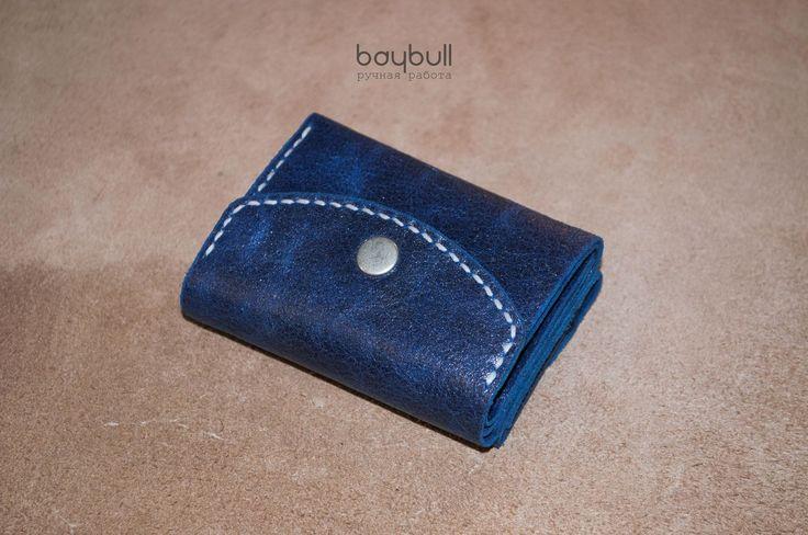 Купить Женский кошелёк Ультрамарин - тёмно-синий, кошелек, кошелек из кожи, кошелек ручной работы