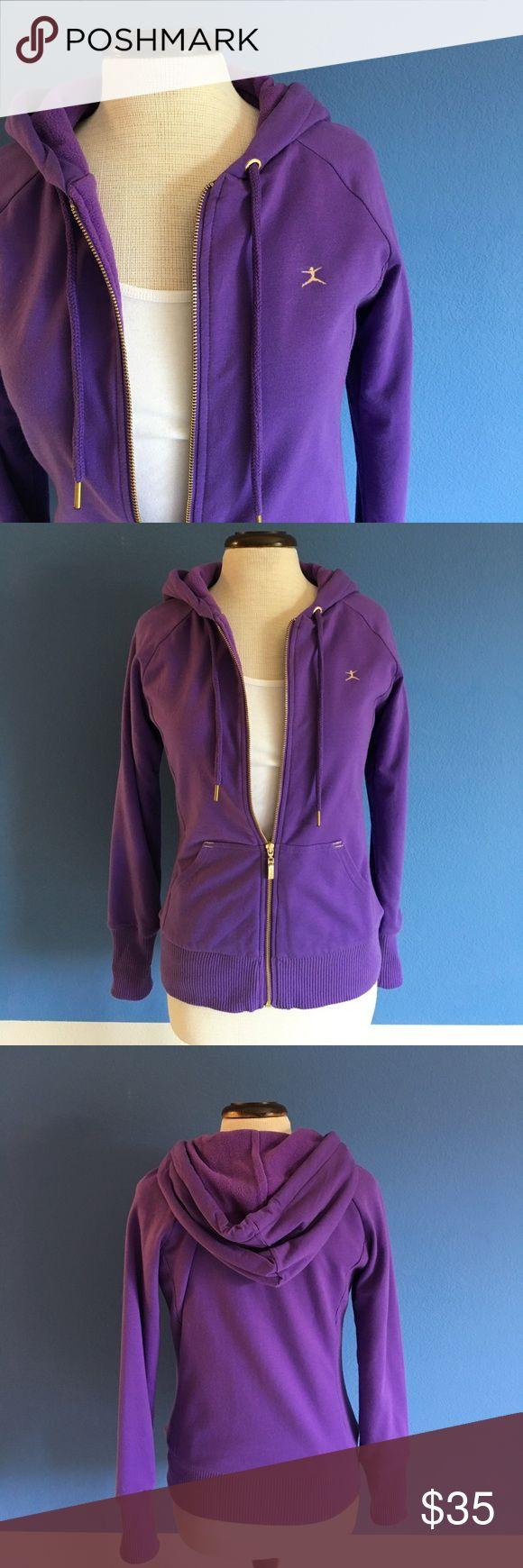 "Danskin Purple Hoodie Ready to workout?  You will be with this cute purple zippered hoodie.  Measurements: (Flat):  Length - 25""/Bust - 18""/Waist - 16"" Danskin Tops Sweatshirts & Hoodies"
