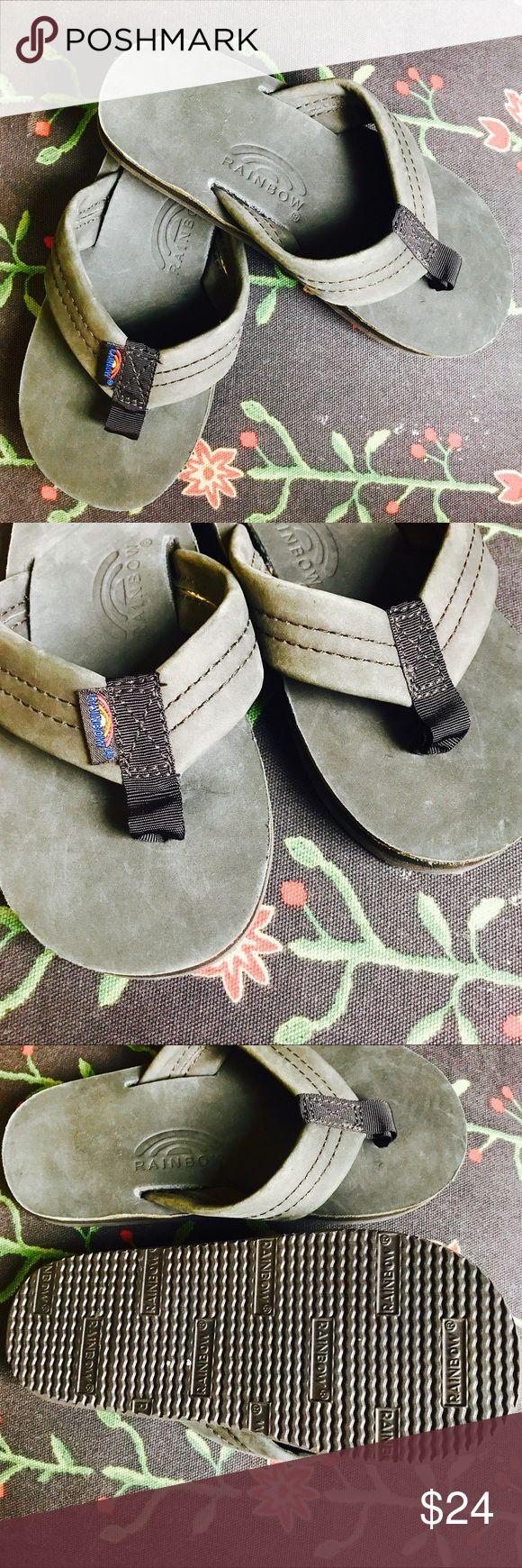 Black rainbow sandals with crystals - Kids Black Rainbow Sandals