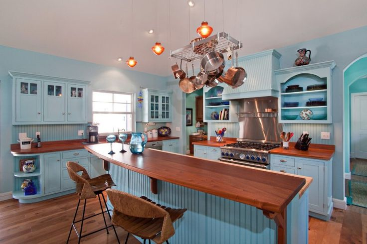 good colors to paint a kitchen beautiful floor wall cabinets backsplash island shelves window cool lamps chairs stove light blue walls tropical room of Good Colors to Paint a Kitchen to Make the Room Beautiful