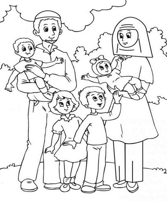Printable Family Member Coloring Page Family Coloring Pages Family Coloring Cartoon Coloring Pages