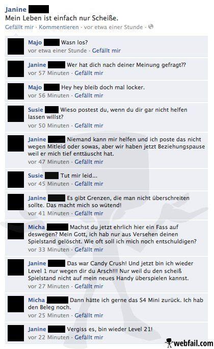 Das Leben ist kein Spiel - Facebook Fail des Tages 24.12.2013