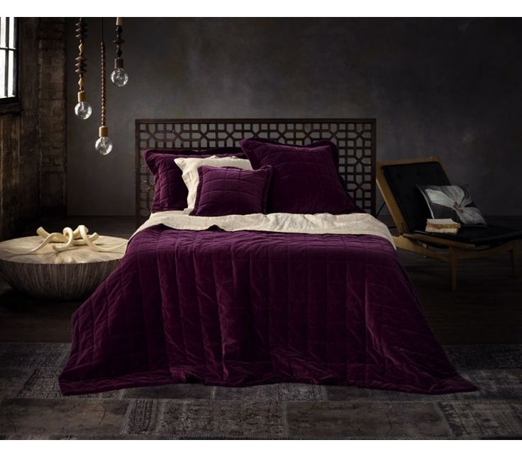 18 best bedspreads wine 39 s to aubergine images on pinterest patchwork quilting bedspread and - Bedlinnen aubergine ...