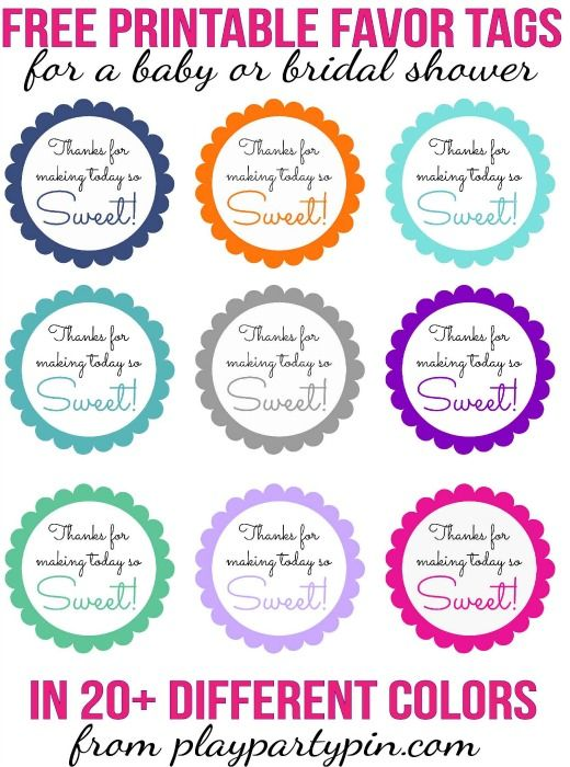 25 best ideas about party favor tags on pinterest birthday party favors baby shower party for Printable baby shower tags