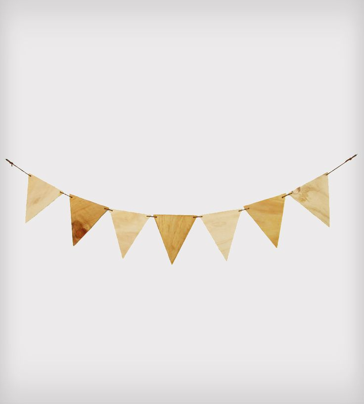Plywood Bunting Banner