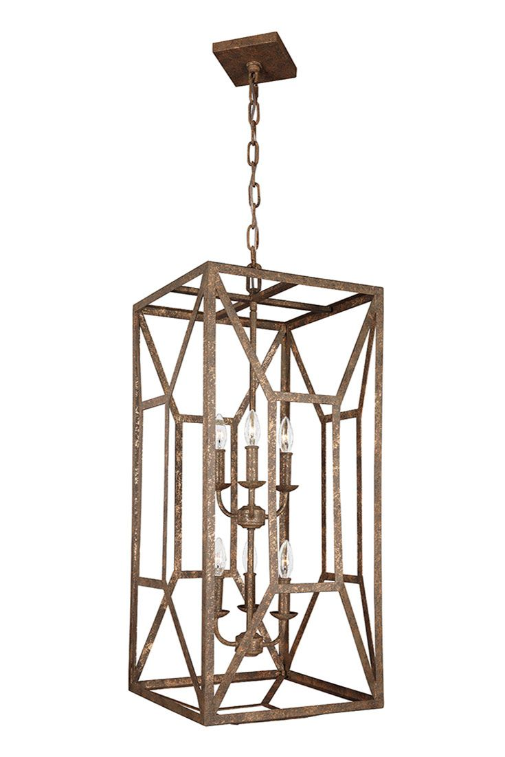 85 best hallway and entry room lighting ideas images on pinterest marquelle 6 light foyer chandelier by feiss the streamlined geometric lantern silhouettes are arubaitofo Gallery