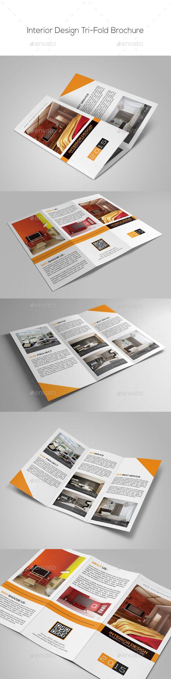 Interior Design Trifold Brochure Template #design Download: http://graphicriver.net/item/interior-design-trifold-brochure-/9855152?ref=ksioks