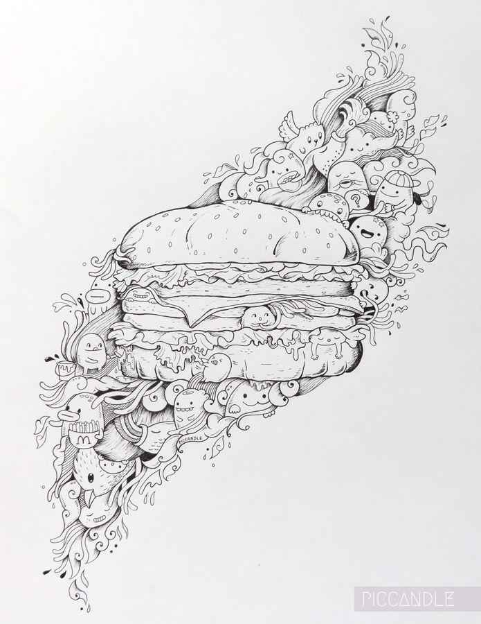 Let's make a Burger :)   www.youtube.com/piccandle #doodle