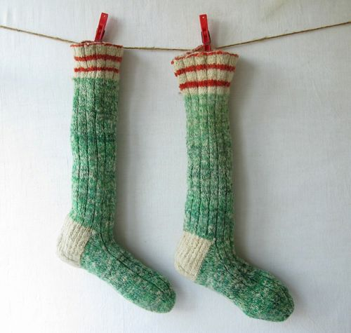 love these socks.  http://www.etsy.com/listing/85494331/vintage-christmas-stockings