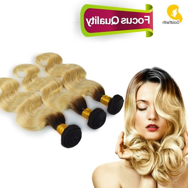 100.80$  Buy here - https://alitems.com/g/1e8d114494b01f4c715516525dc3e8/?i=5&ulp=https%3A%2F%2Fwww.aliexpress.com%2Fitem%2F3pcs-Lot-Dark-Root-Blonde-Ombre-Weave-Brazilian-Virgin-Remy-Hair-Blonde-Weave-Bundles-Body-Wave%2F32528717030.html - 3pcs Lot Dark Root Blonde Ombre Weave Brazilian Virgin Remy Hair Blonde Weave Bundles Body Wave Two Tone Human Hair Extensions