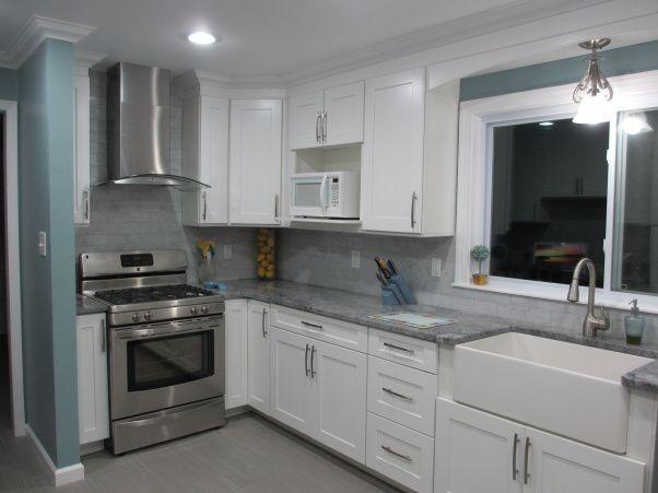 From 90's pink to modern white kitchen - Kitchen Designs ...