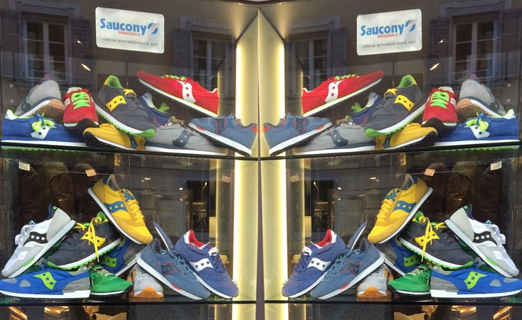 Get the absolut Trend-Sneaker in colors, red, yellow, blu, green - Spring/Summer 2015 - #fashion #sneaker #saucony #ss15